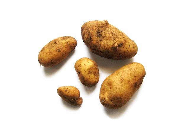 Ensemble de pommes de terre sales