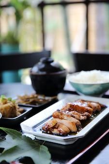 Ensemble de poulet teriyaki