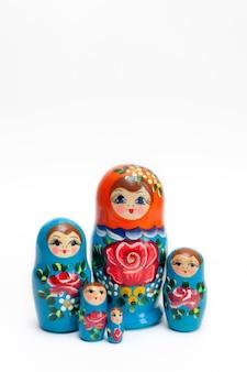 Ensemble de poupées russes en bois de 5 pièces
