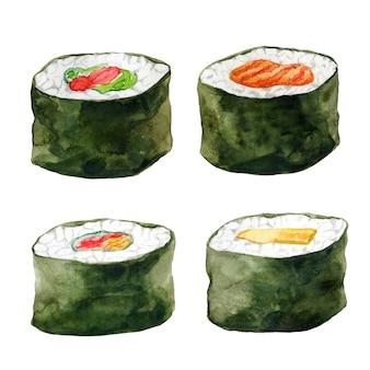 Ensemble de rouleaux de sushi