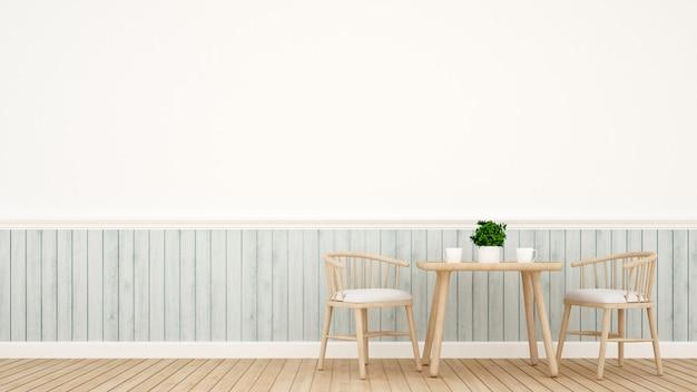 Ensemble de salle à manger design classique moderne - rendu 3d