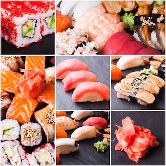 Ensemble de sushis et petits pains