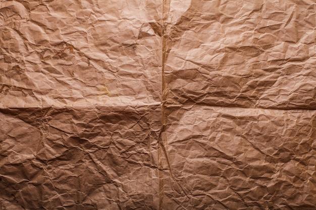 Ensemble de textures de papier kraft froissé