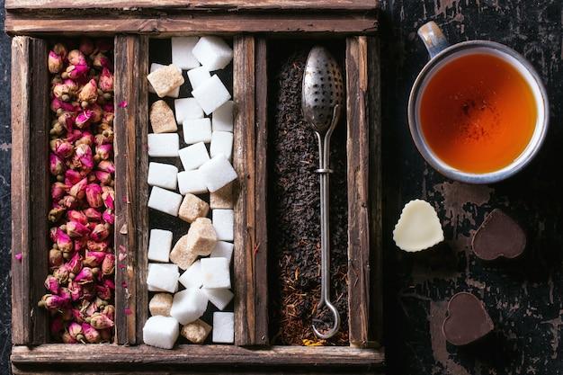 Ensemble de thé sec