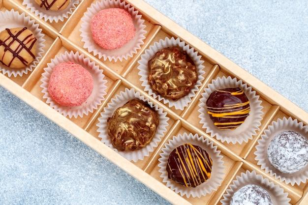 Ensemble de truffe au chocolat