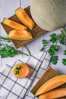Entier et tranché de melons