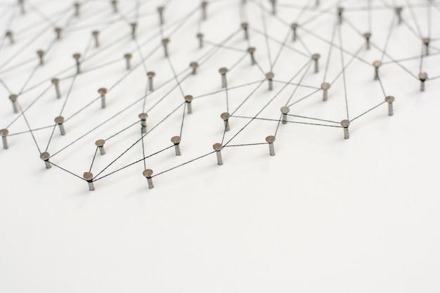 Entités de liaison. réseau, réseautage, médias sociaux, résumé de communication internet.