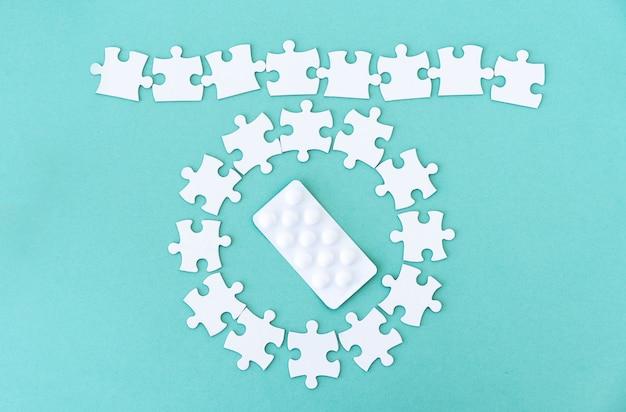Entourez les pilules des pièces du puzzle