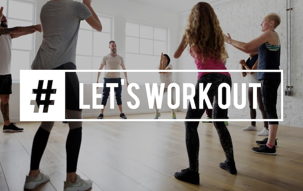 Entraînement bien-être helthcare fitness concept