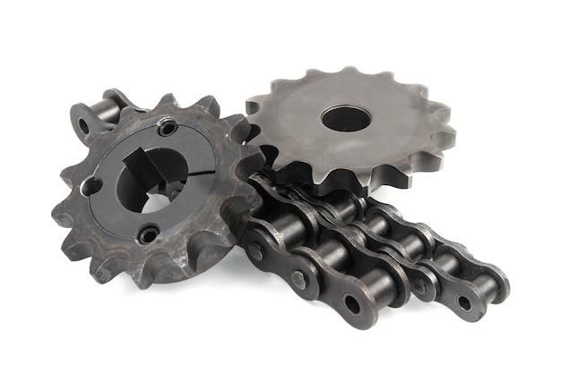 Entraînement de chaînes à rouleaux et pignons industriels