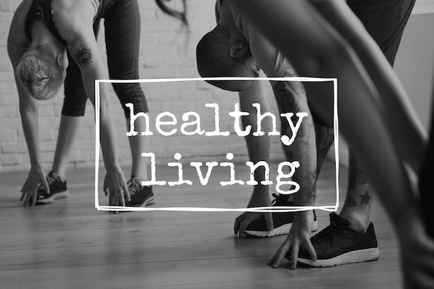 Entraînement de style de vie de bien-être de vie saine de sport