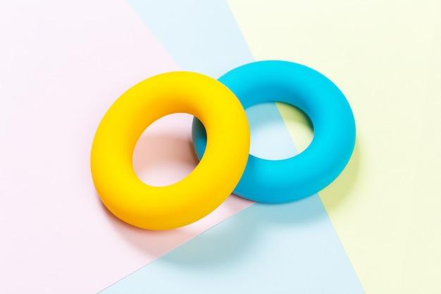 Entraîneurs à anneaux en caoutchouc