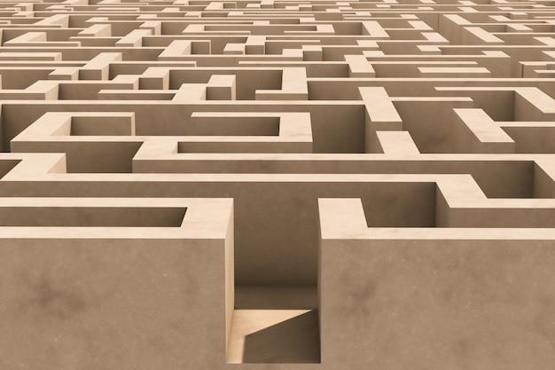 Entrée du labyrinthe. labyrinthe vide.