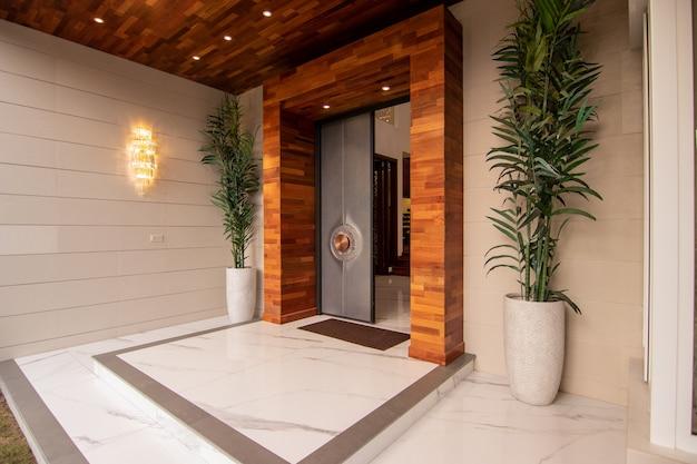 Entrée De Luxe De Maison Moderne Photo Premium