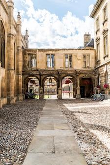 Entrée de peterhouse, un collège de l'université de cambridge