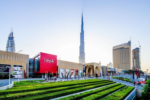 Entrée principale du centre commercial de dubaï