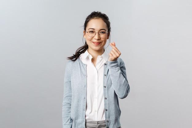 Entrepreneur asiatique attrayant