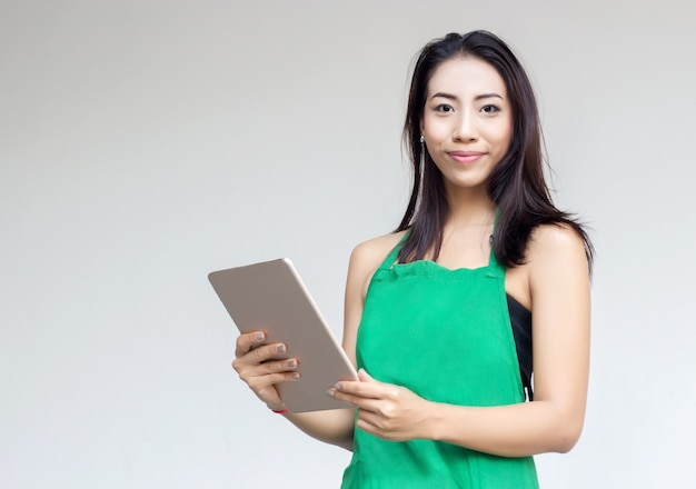 Entrepreneur dame asiatique journée occupée