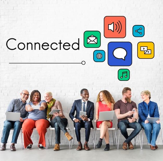 Entrez en contact avec l'icône de connexion en ligne