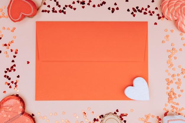 Enveloppe cadeau pour la saint valentin