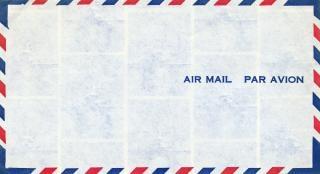 Enveloppe de courrier aérien