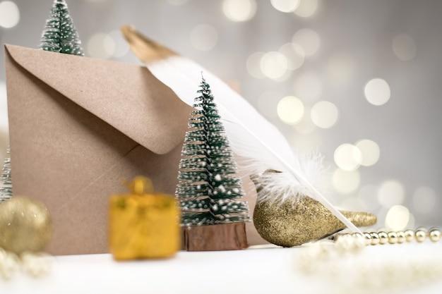 Enveloppe de lettre au père noël noël nouvel an