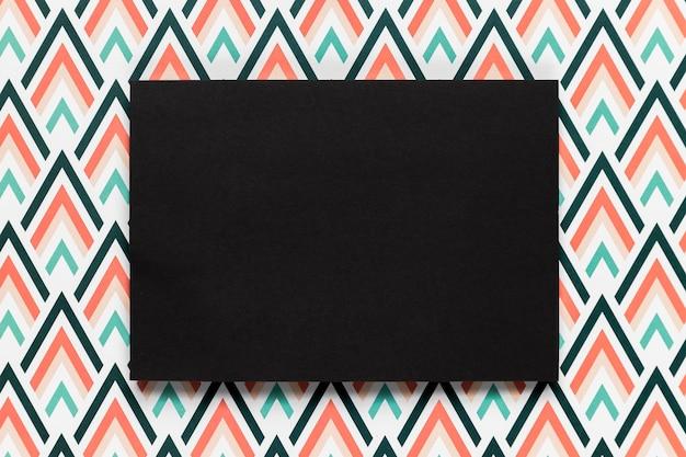 Enveloppe noire invitation de mariage plat poser