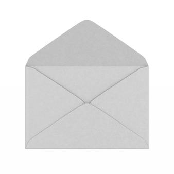 Enveloppe ouverte sur blanc.