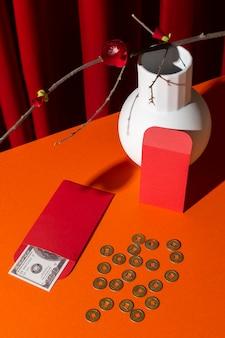 Enveloppes de nouvel an chinois 2021 avec de l'argent