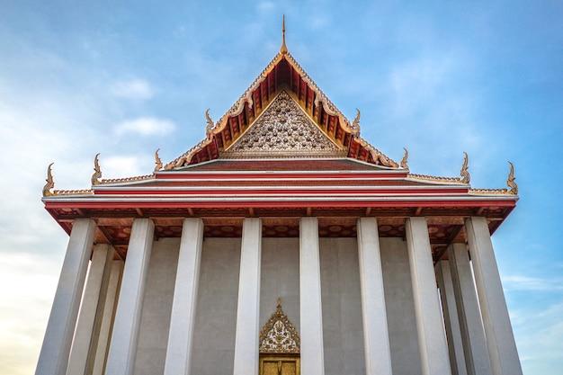 Environnement du temple de la thaïlande autour de golden mount, bangkok, thaïlande
