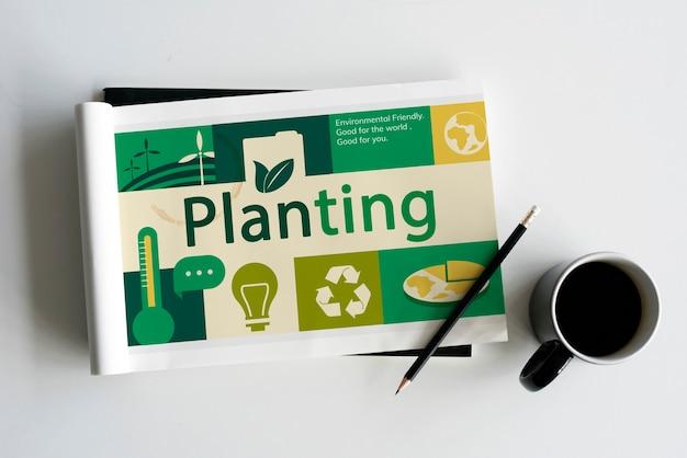 Environnement responsable vert ecologie globale