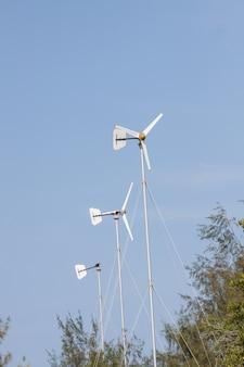 Éoliennes dans une ferme