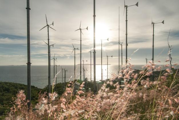 Éoliennes à koh lan pattaya en thaïlande