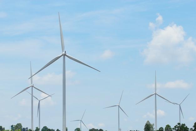 Éoliennes produisant de l'électricité
