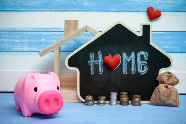 Épargne vente immobilière, prêt immobilier. stratégie de plan hypothécaire résidentiel de l'industrie du logement.