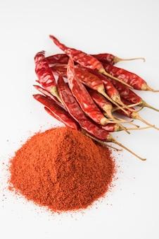 Épice indienne piment rouge ou poudre de lal mirch