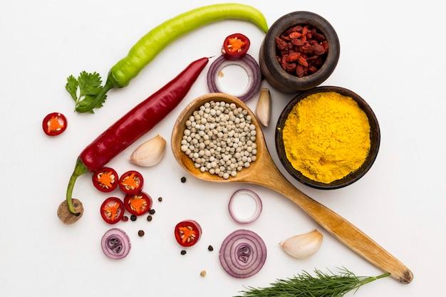 Épices diversité d'ingrédients