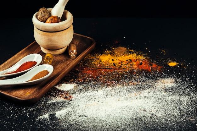 Épices indiennes savoureuses