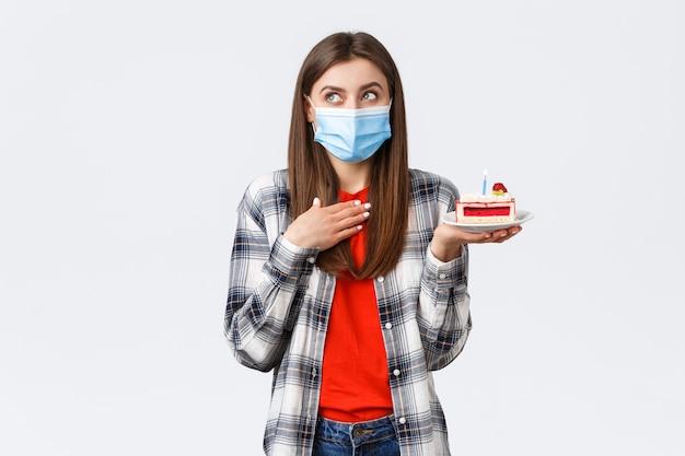 Épidémie de coronavirus, mode de vie pendant le concept de célébration de distance sociale et de vacances.