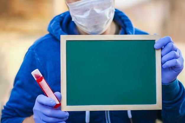 Une épidémie de coronavirus. syndrome respiratoire viral épidémique. conseil entre les mains des hommes. chine