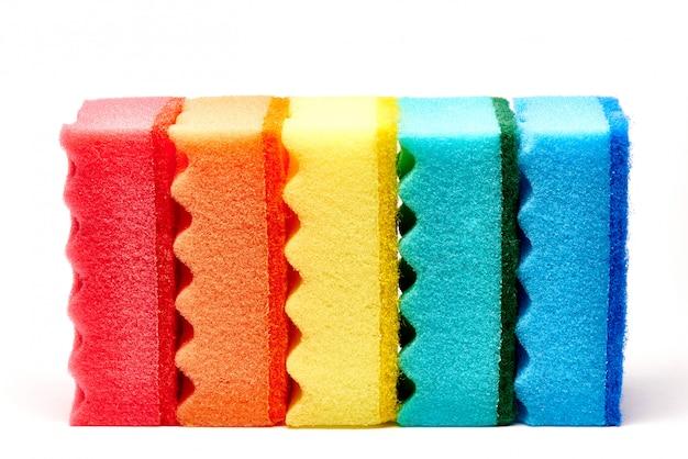 Éponges de cuisine multicolores