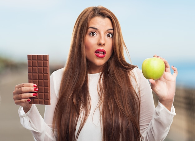 Équilibre belle mignon santé alimentaire