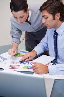 Équipe des activités travaillant sur les statistiques de vente