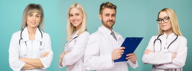 Une équipe de médecins confiants