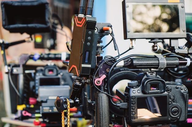 Équipe de production de film, arrière-plan dans les coulisses