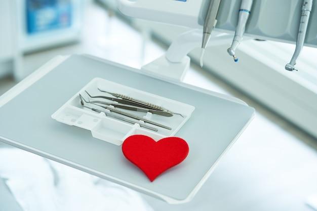 Équipement de dentiste au bureau