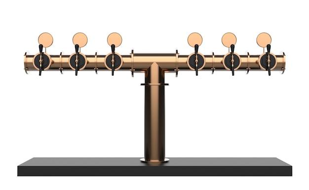 Équipement pour bar 3d illustration isolé sur fond blanc tour de bière rendu avec poignée