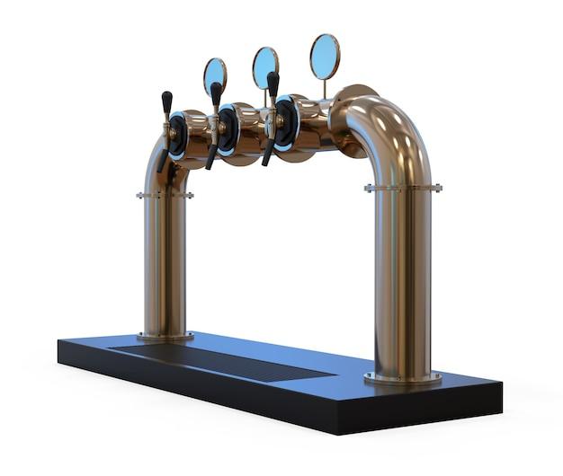 Équipement pour bar 3d illustration isolé sur fond blanc tour de pompe à bière