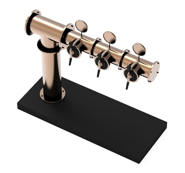 Équipement pour bar illustration isolé sur fond blanc tour de pompe à bière métallique