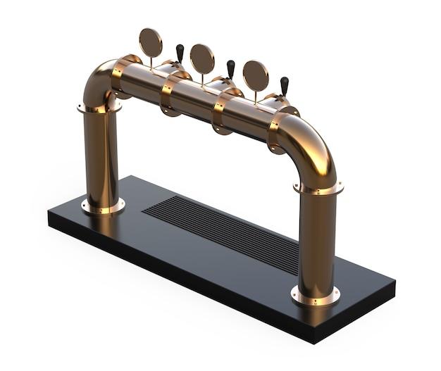 Équipement pour bar rendu 3d isolé sur fond blanc tour de pompe à bière